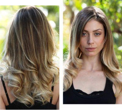 cabelos loiros com luzes californianas