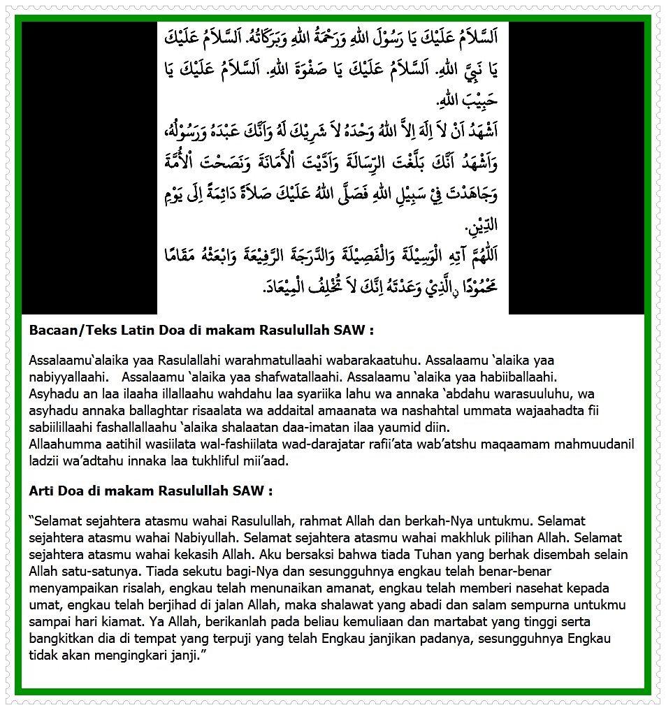 Doa Salam Sewaktu Berziarah Di Baqi Arab Latin Dan Artinya