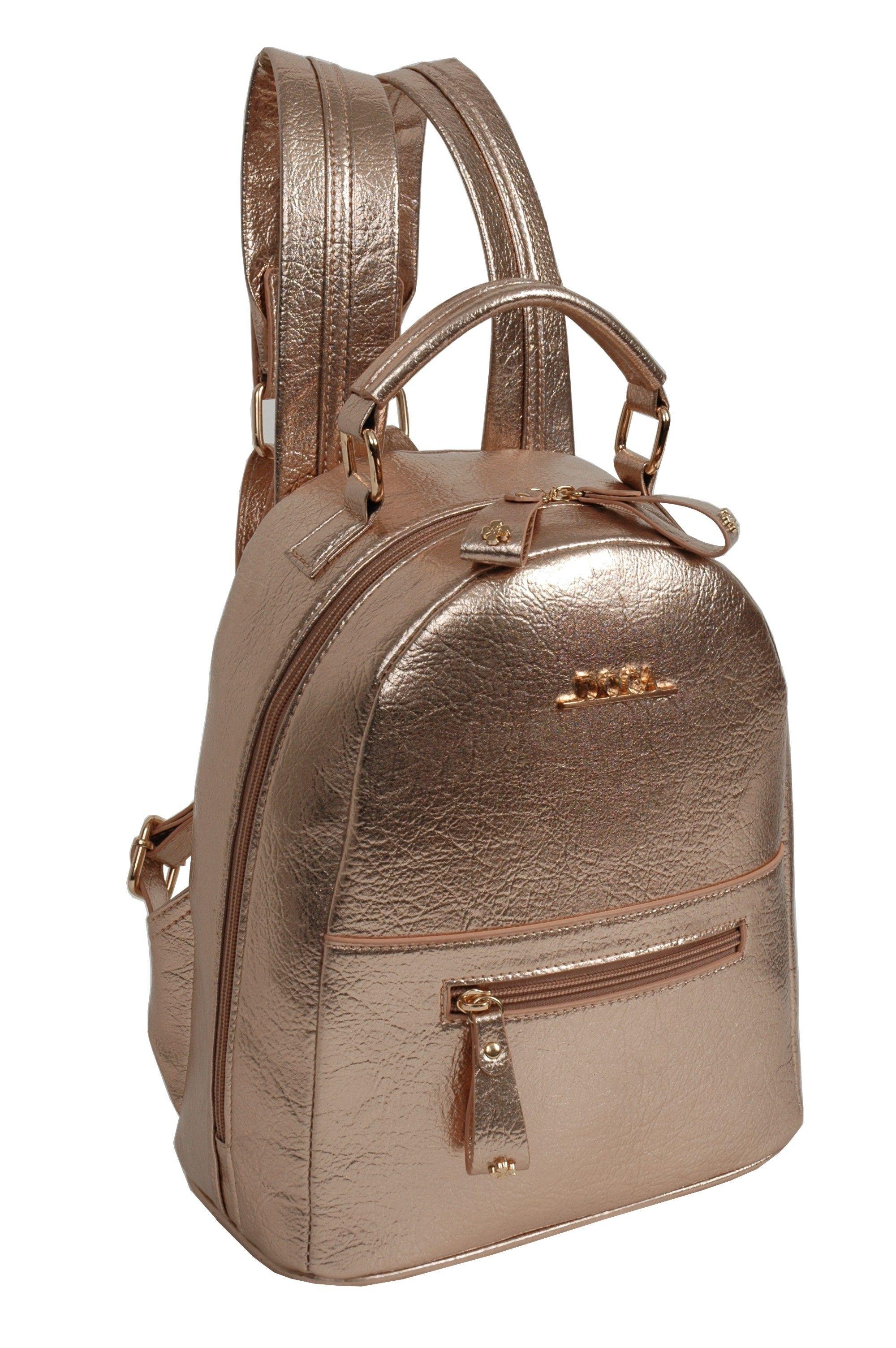 3514ac27a7 Doca stylový bronzový batoh - Originální metalický batoh od řecké značky  Doca. Nádherný