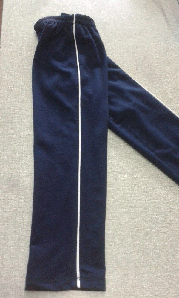 School Pants Dark Blue White Fine Dark Blue Spring And Autumn Pure Cotton Bar Article High-waisted S