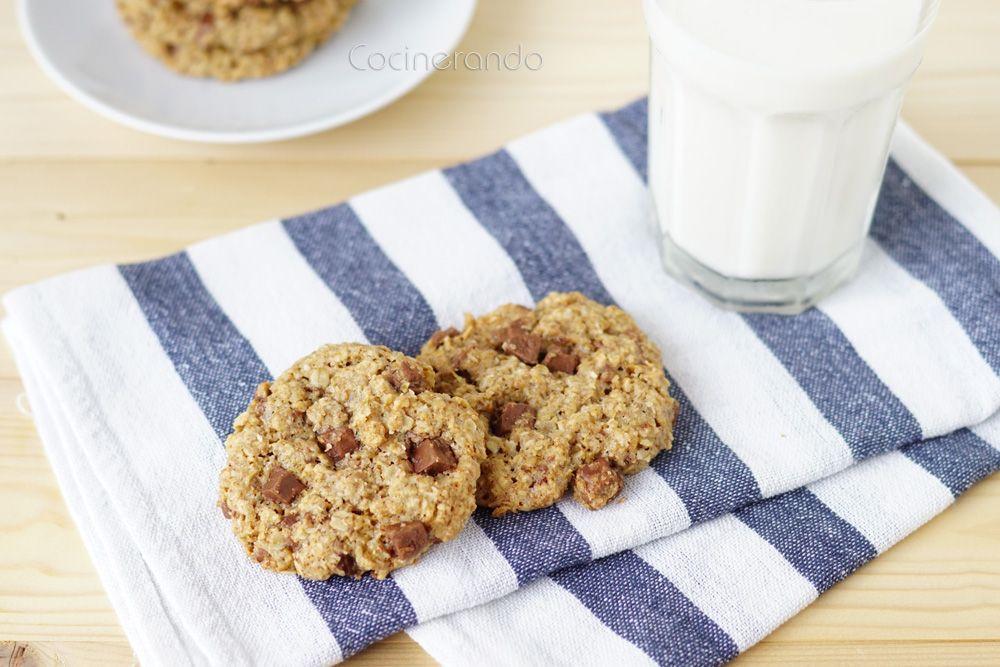 Cocinerando: Cookies de Avena, Coco y Chocolate (sin huevo, sin mantequilla)