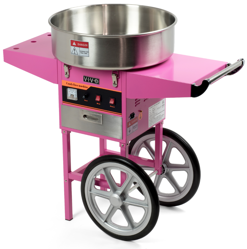 Electric Commercial Cotton Candy Machine Floss Maker Pink Cart Stand Vivo Walmart Com In 2021 Candy Machine Cotton Candy Machines Cotton Candy Machine