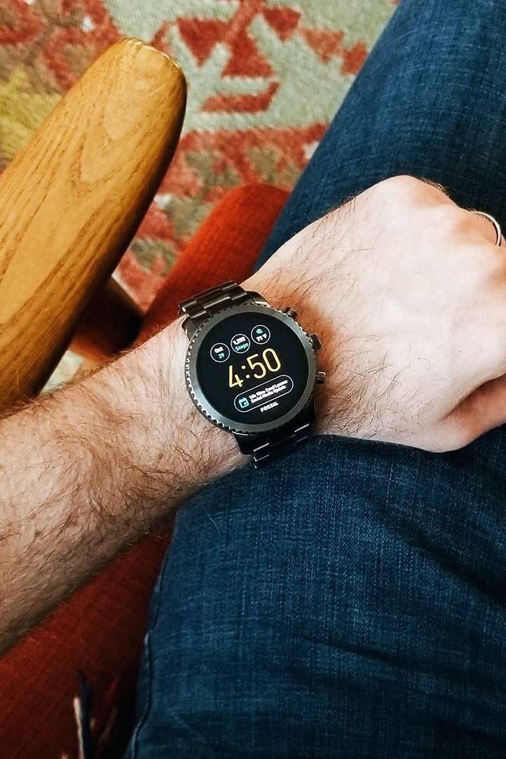 Gen 3 Smartwatch Explorist Smoke Stainless Steel Smart Watch Fossil Mens Accessories