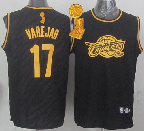 Cleveland Cavaliers Anderson Varejao Revolution 30 Swingman 2014 Black With Gold  Jersey 80e2cdda7