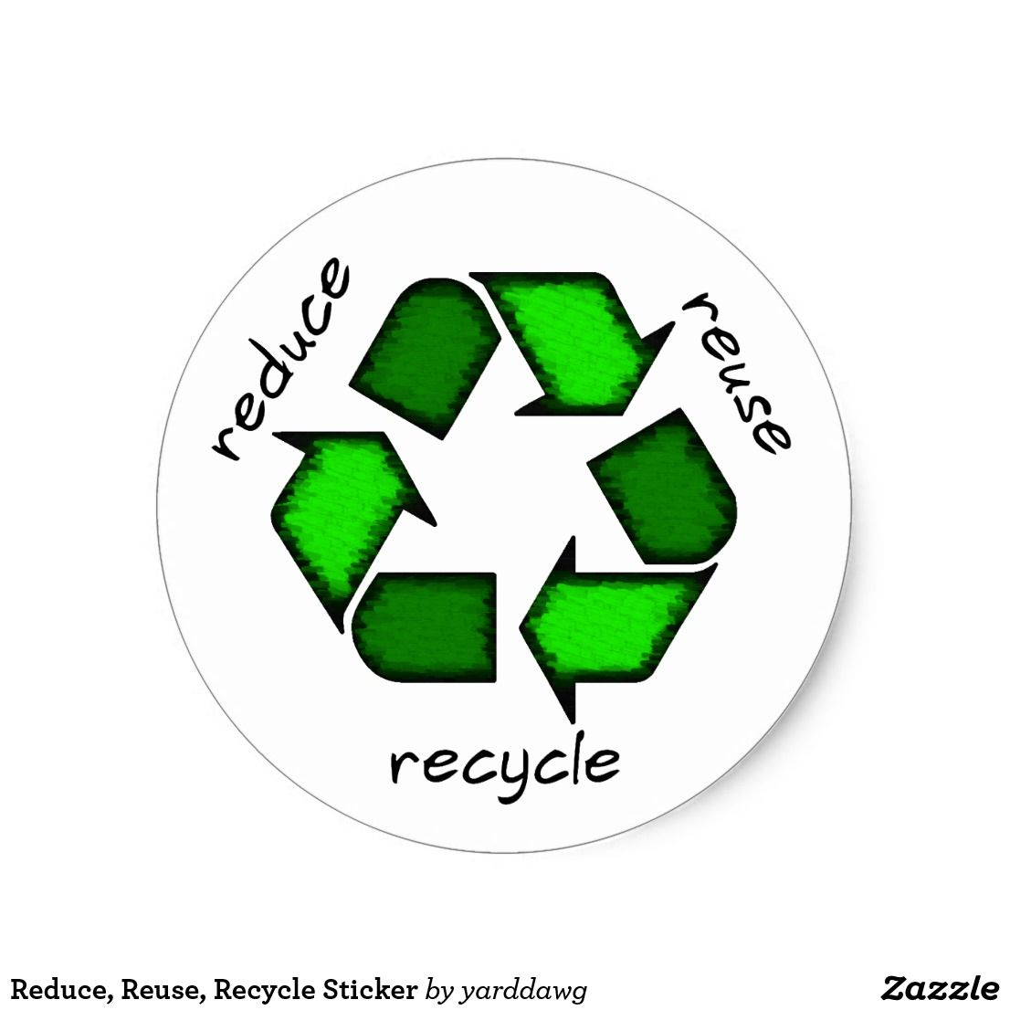 Reduce Reuse Recycle Sticker