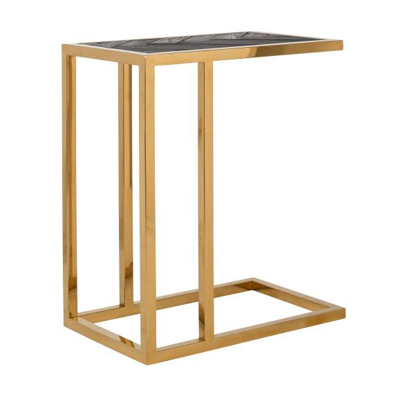 Richmond Beistelltisch Blackbone Gold 55x35 Neu Beistelltisch Beistelltisch Gold Sofa Tisch