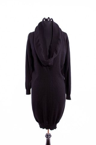 Yves Saint Laurent cashmere dress with cowl neck