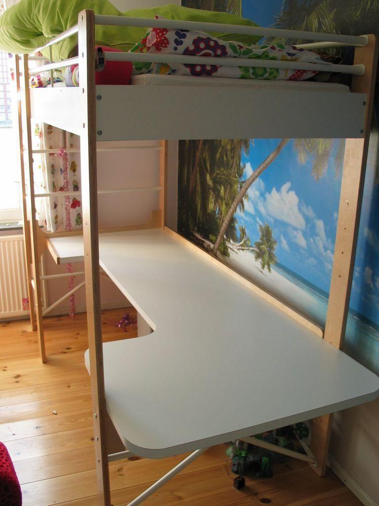 Ikea Dorm Room Ideas: Diy Dorm Room Crafts : DIY Desk For IKEA Lo Loft Bed