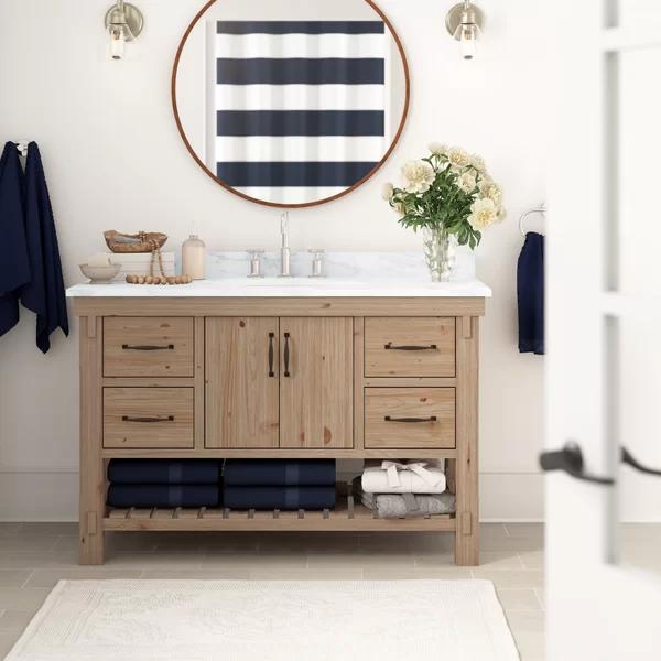 Three Posts Kordell 48 Single Bathroom Vanity Set Wayfair Single Bathroom Vanity Bathroom Vanity Double Vanity Bathroom