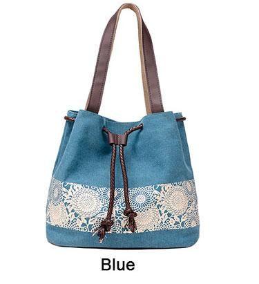 53860bcb31 Canvas Flower Mandala Handbag
