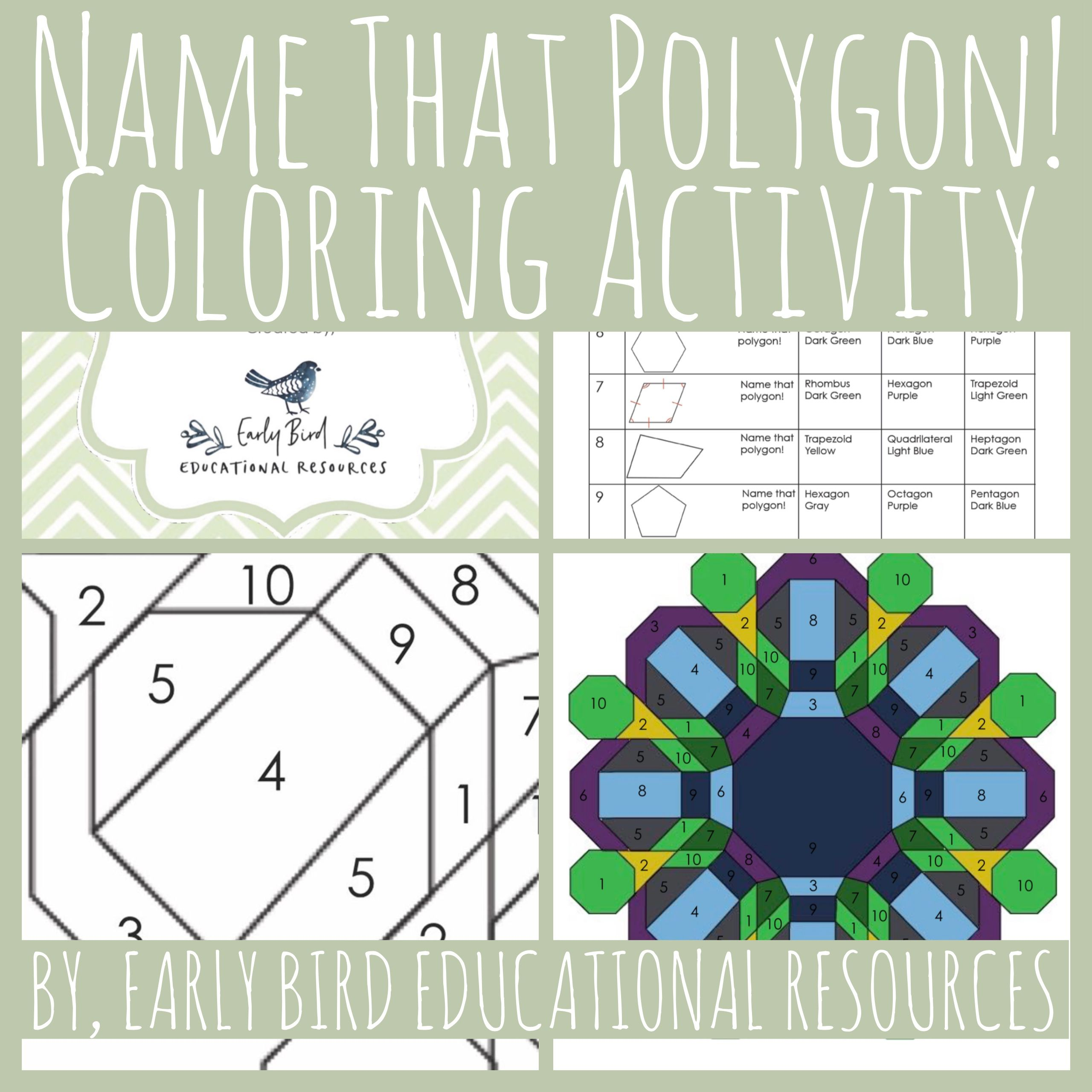Name That Polygon Coloring Activity This Worksheet Is A