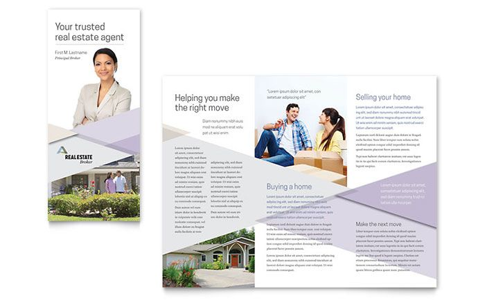 Realtor Brochure Template Design by StockLayouts Marketing - free tri fold brochure templates microsoft word