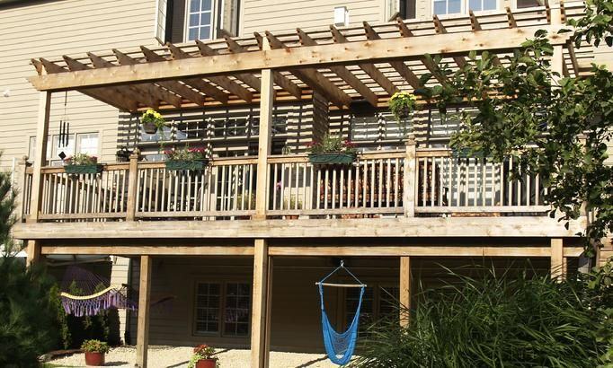 Second Story Deck With Pergola Pergola Pergola Patio Deck With