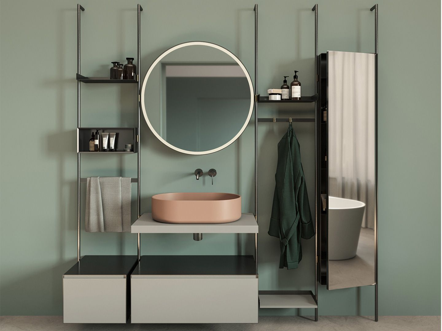 Mobile Lavabo Con Speccio By Nic Design In 2020