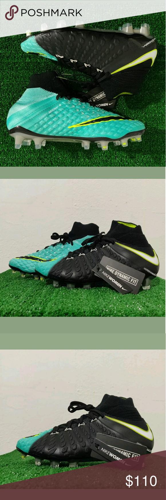 c6635a7903c8 Women's Nike Hypervenom Phantom 3 Soccer Cleats Brand New Without Box  Women's Nike Hypervenom Phantom 3 DF FG 881545-400 Aqua/Black Soccer Cleats  US 7.