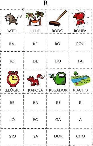 Varias Cartelas Com Silabas Para Imprimir Para Educacao Infantil