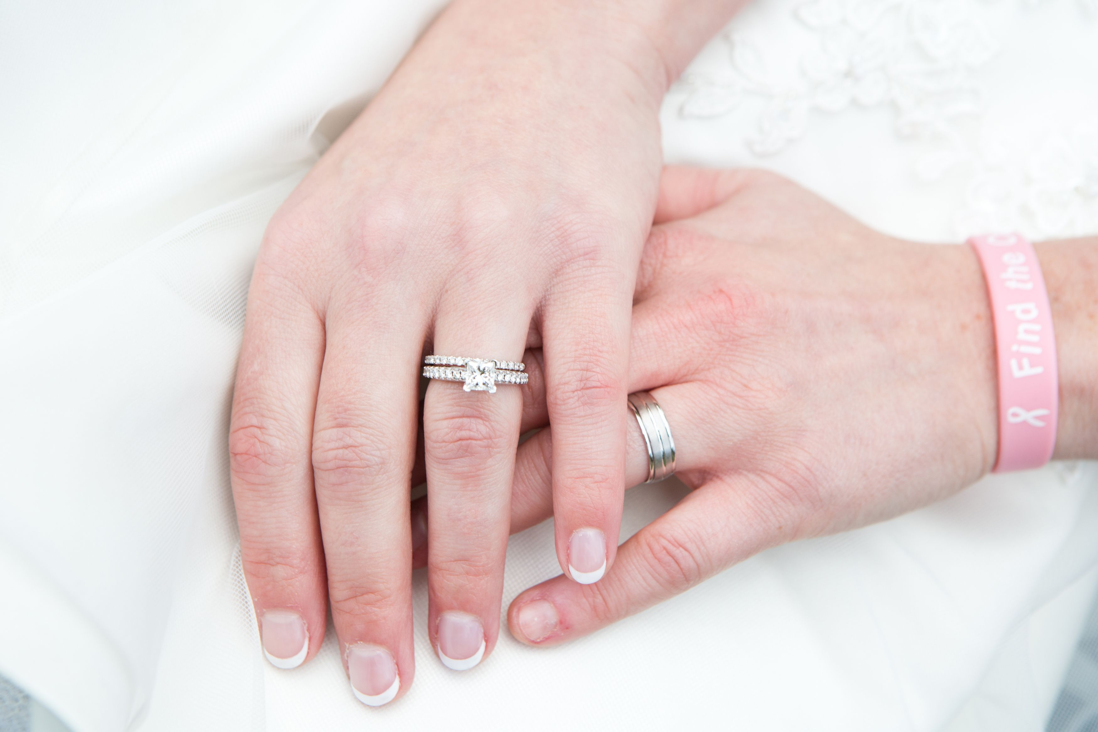 Cara and Ginny\'s Lakeside Elopement | Simple wedding rings ...