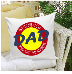 f951167f Personalized Parent Dad Throw Pillow Free Engraved Message | Fathers ...