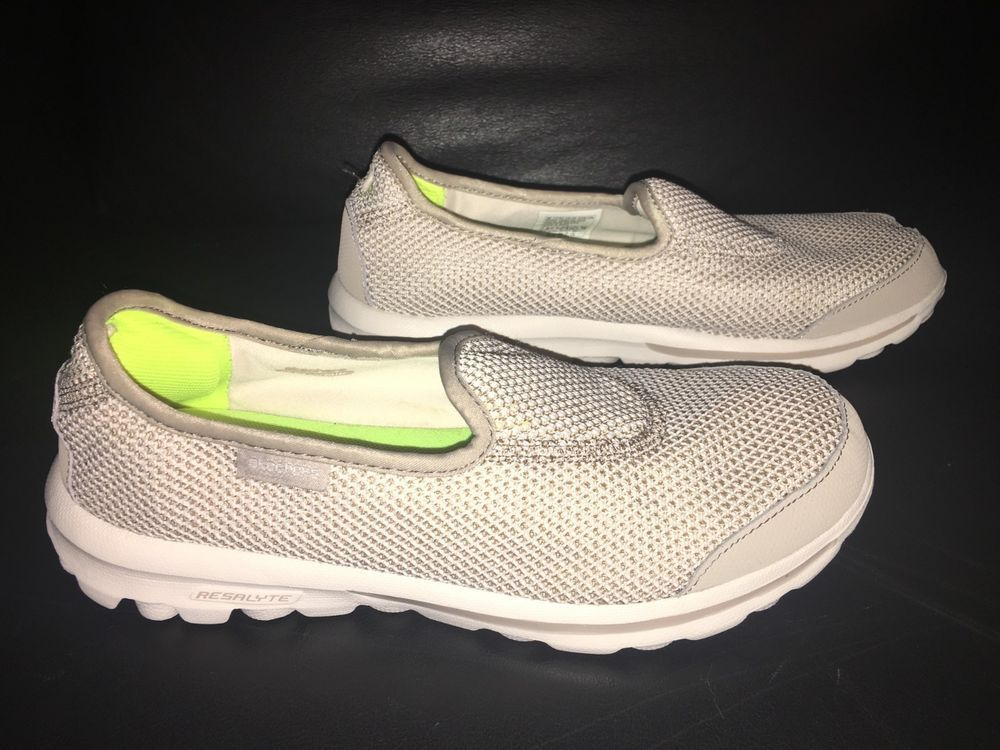dc01fc3889ad9 Womens Skechers Go Walk Rival Slip On Tennis Shoes Sz 7.5 Tan  fashion   clothing  shoes  accessories  womensshoes  athleticshoes (ebay link)