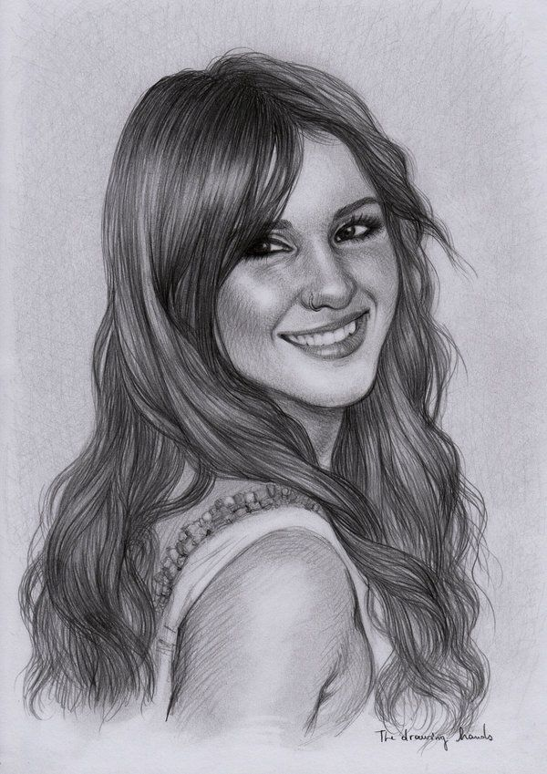 Dulce Maria By Thedrawinghands On Deviantart Portrait Pencil