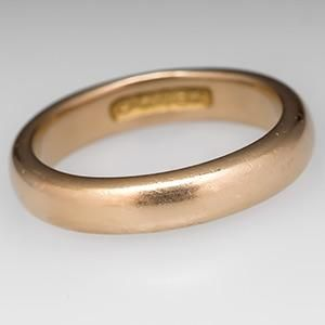 Vintage Estate Men S Jewelry Mens Plain Clic Wedding Band