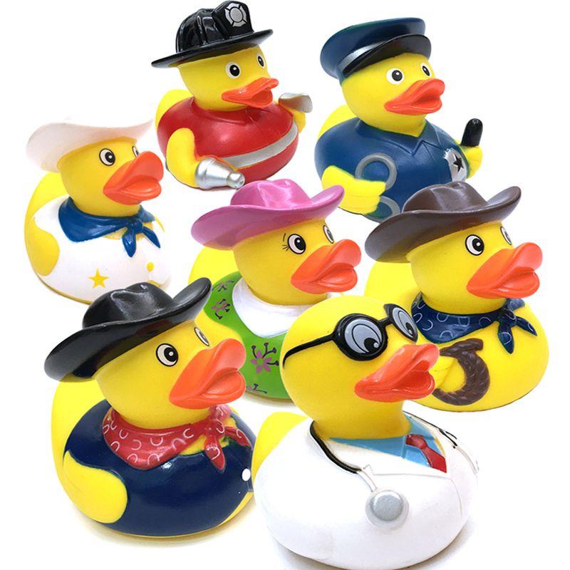 1 قطع الاطفال البلاستيكية حمام اللعب المطاط البط العائم الأصفر البط الطفل دش الحمام صغير لعب الصفراء الزينة الحزب Bathroom Toys Bath Toys Baby Bath Toys