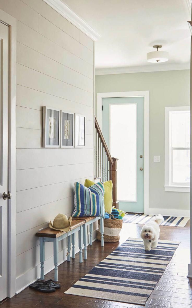 Foyers beach houses coastal house foyer with shiplap walls entrance design rugs decorating hallway ideas pictures small entry hall  also rh in pinterest