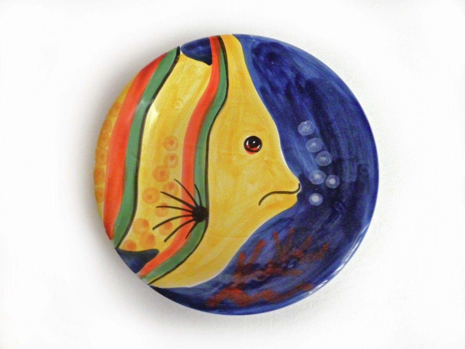 Decorative Plate Hand Painted in Italy - Tropical Fish Colorful  sc 1 st  Pinterest & Decorative Plate Hand Painted in Italy - Tropical Fish Colorful ...