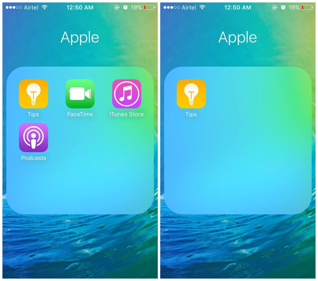 How to hide stock apple apps features on iphone or ipad