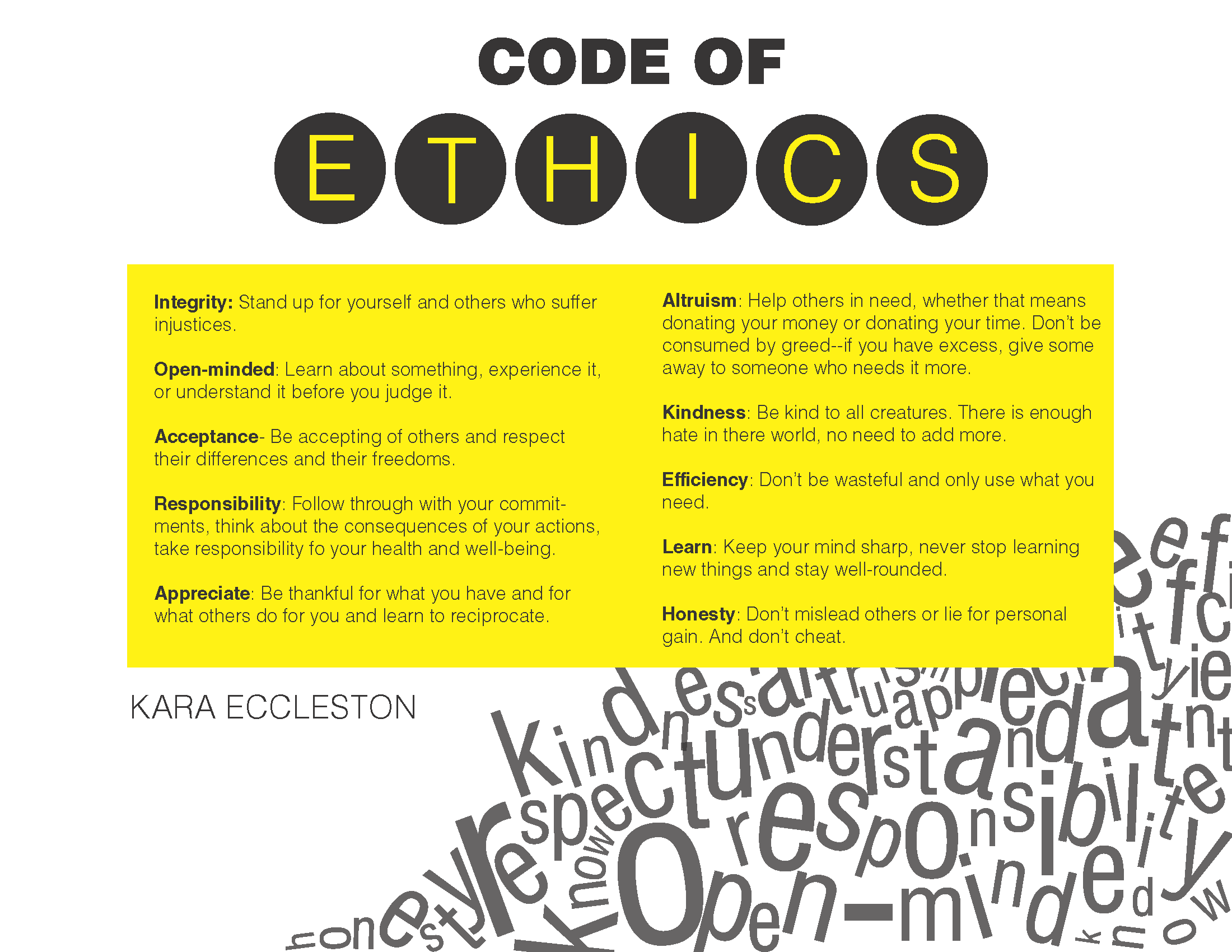 This List Of Ethics Can Be Applied To Everyone And Not