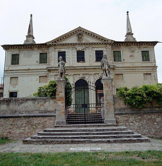 Andrea Palladio ~ The south facade of Villa Repeta; the obelisks ...