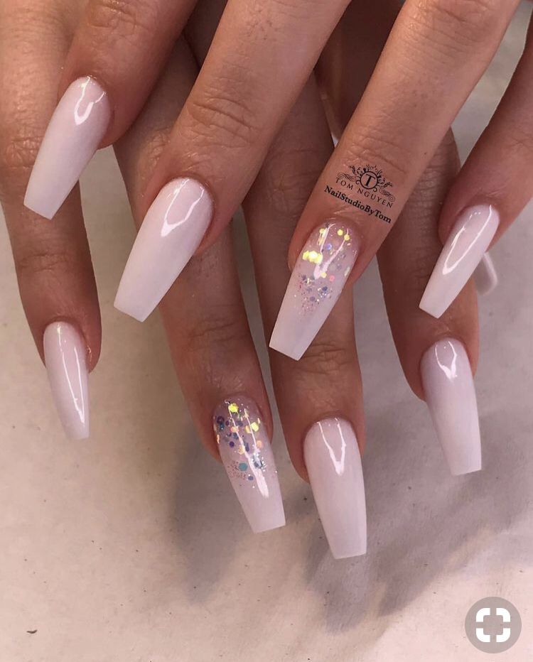 Pinterest Crystal Nails Ombre Nail Designs Coffin Nails Designs