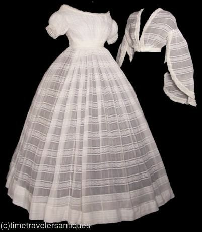 1860 sheer 3piece dress for day and evening wear. TIME TRAVELER