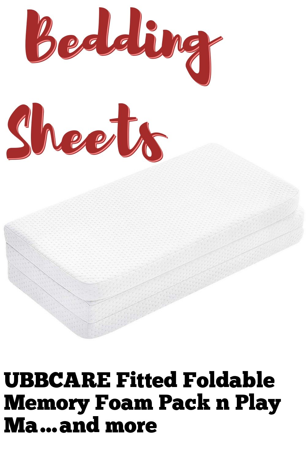 Ubbcare Fitted Foldable Memory Foam Pack N Play Mattress Pad Portable Playard Mattresses 38x26x1 Pack N Play Mattress Mattress Pad Washable Cover