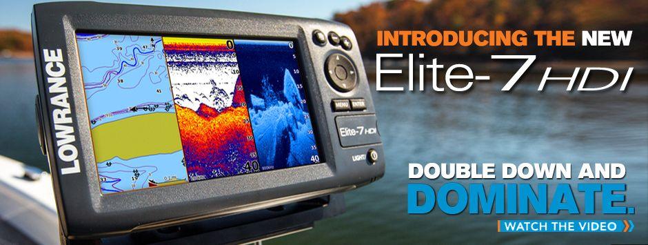 Lowrance Elite7 HDI, Fishfinder / Chartplotter Marine