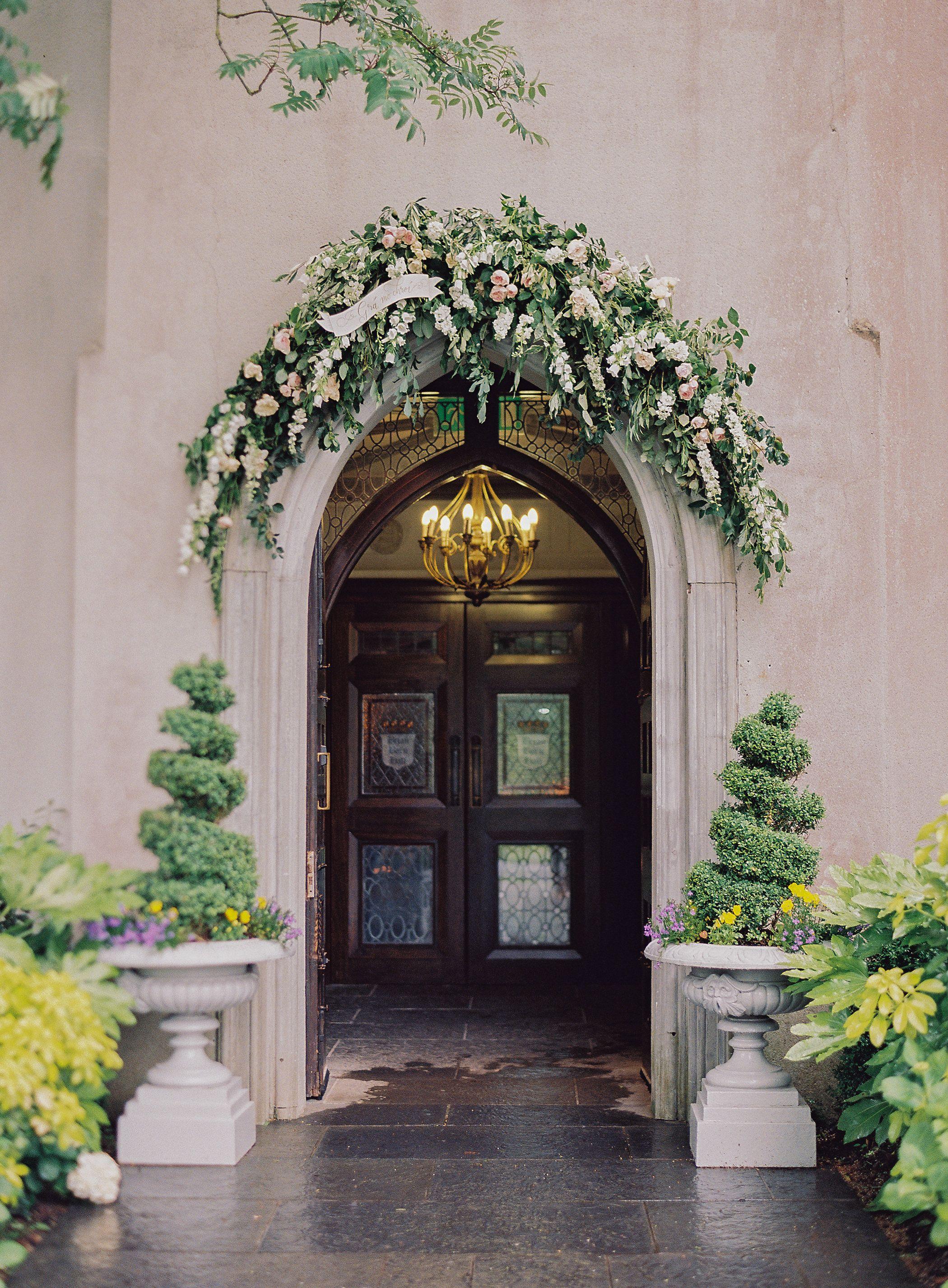 Fairytale Green and White Destination Wedding Florals