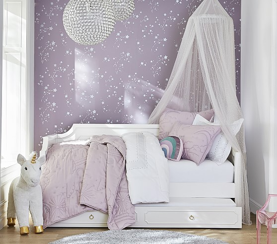 Marlo Quilt & Shams Girls daybed room, Toddler girl room
