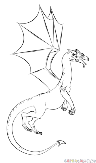 How to draw a realistic dragon step by step. Drawing