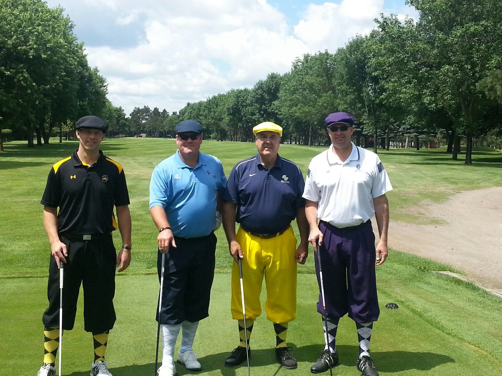 My Foursome At The Nsic Golf Tournament July 2014 Mike Powicki David Miller And Eric Schoh Golf Tournament David Miller Athlete