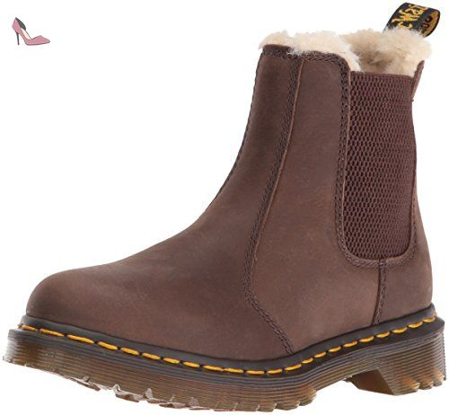 Dr. Martens Leonore Burn. Wyoming Dk Brown, Bottes Chelsea