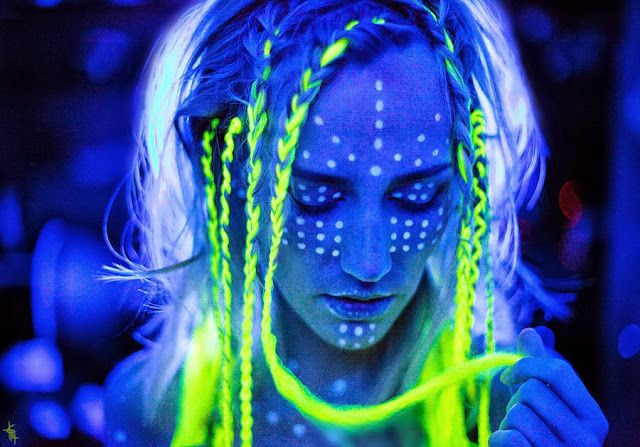 Glows In The Dark Neon Uv Photos Glow Face Paint Neon Face