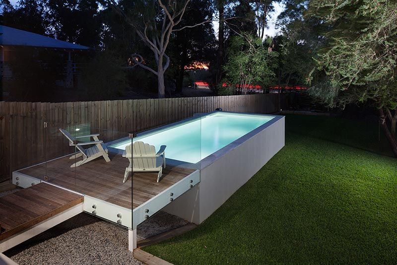 This Pool Perfectly Reflects The Design And Flow Of Our Clients Existing Home An Out Of Ground Con Small Above Ground Pool Concrete Pool Pools For Small Yards