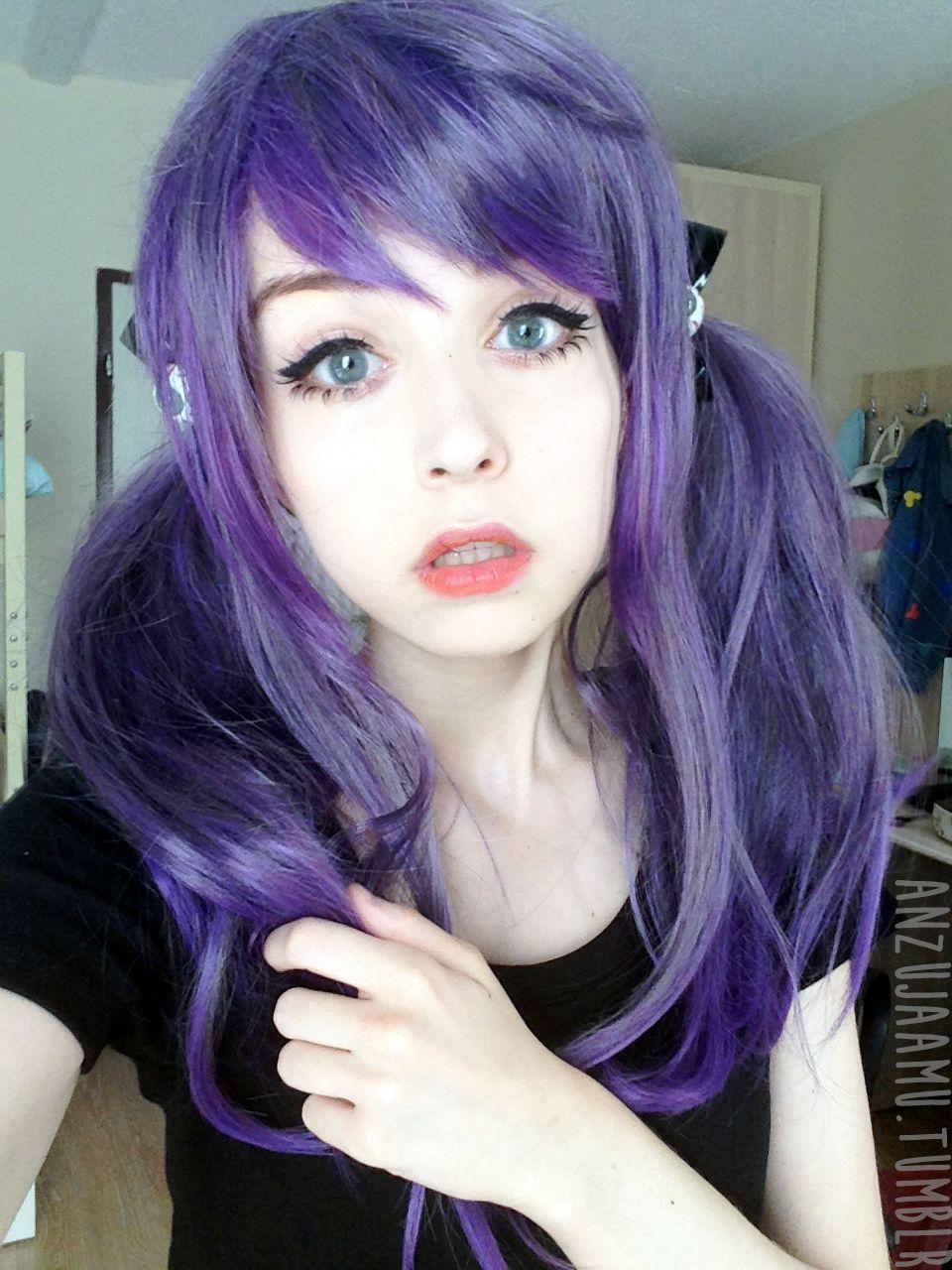 Look - Girls tumblr with light purple hair video