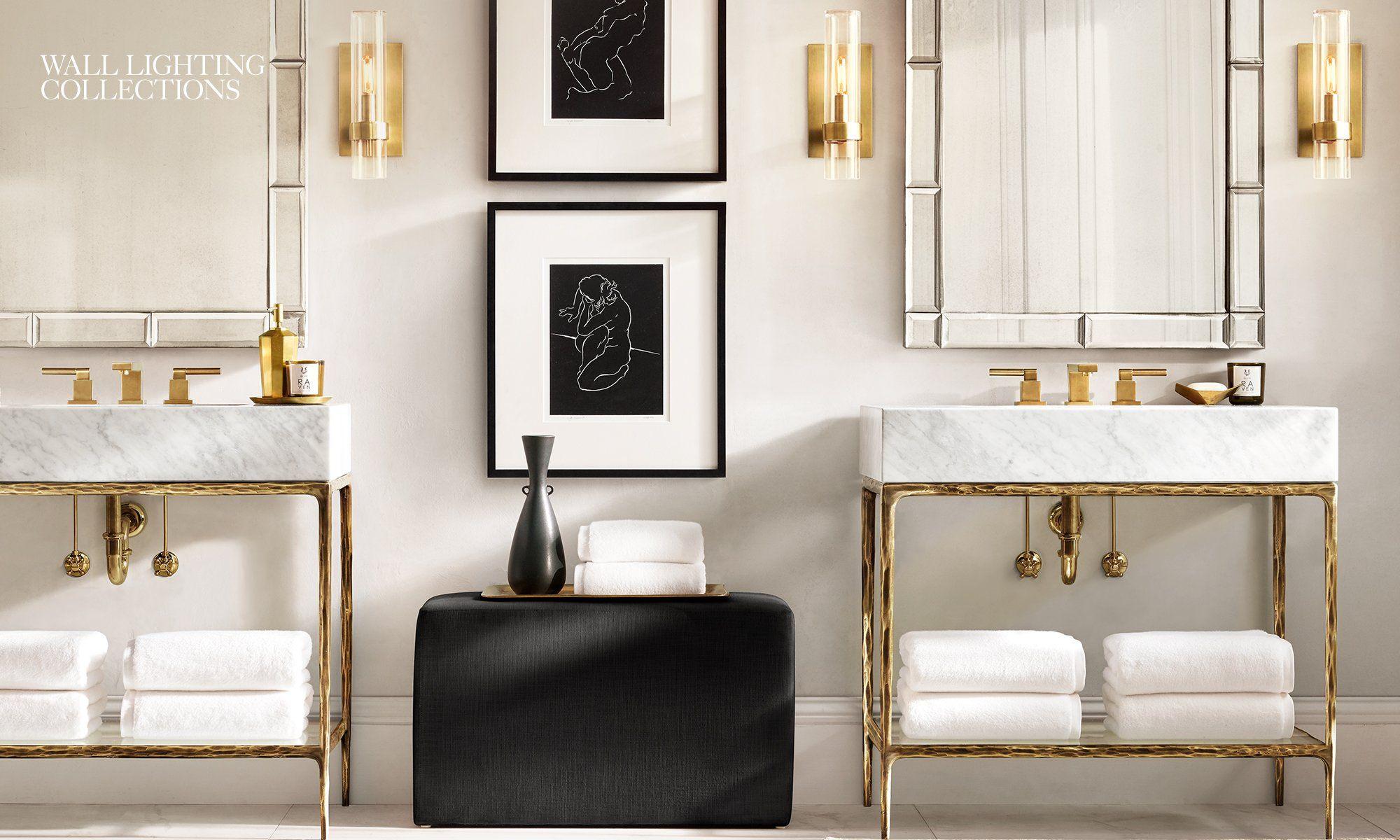Rh Homepage In 2020 Sconces Light Fixtures Bathroom Vanity