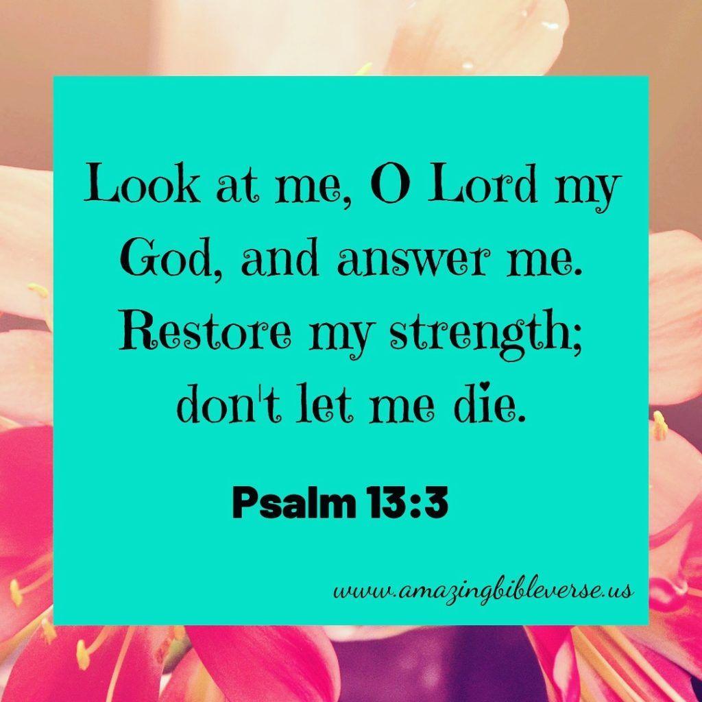 Restore My Strength Lord | Amazing Bible Verse | Psalm 13