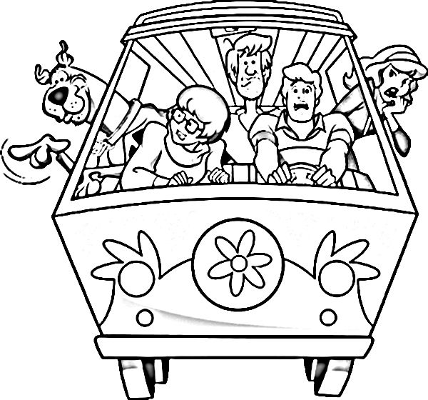 free scooby doo and friends coloring pages - Scooby Doo Coloring Page