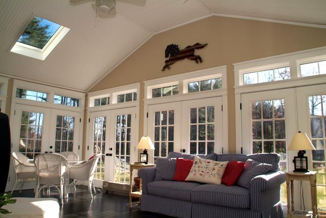 Sunroom designs for a colonial home sun room interiors for Sunroom interior designs