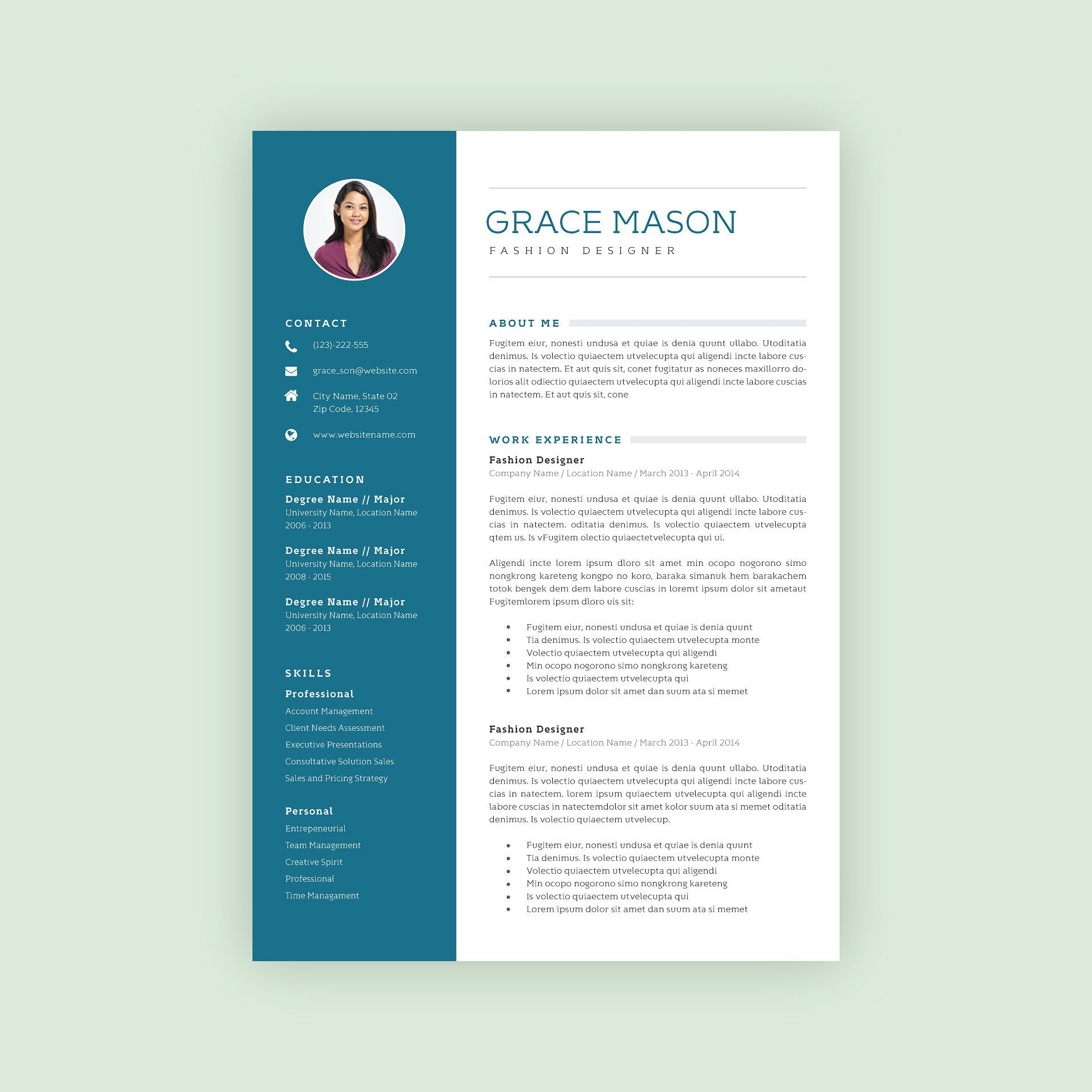 Professional Resume Template 09 Template Resume Docx Format Resume Template Professional Resume Templates Creative Resume Templates