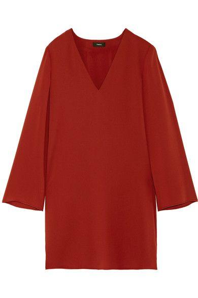 d6b9cd61c5 Theory - Ulyssa Crepe Dress - Brick | Products | Crepe dress, Theory ...