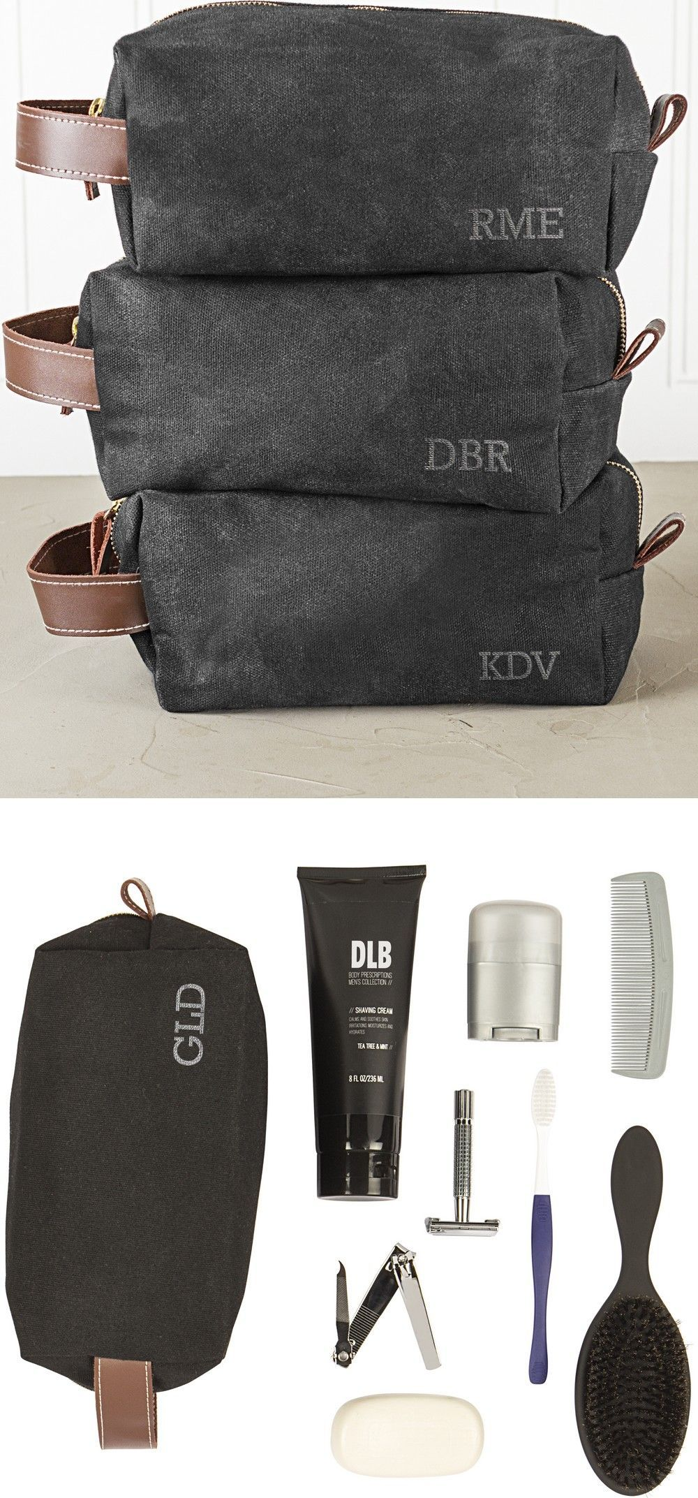 Men appreciate gifts they can use. A toiletry travel bag personalized with  his initials and filled with daily grooming essentials is a sure winner  that ... 2722738cf09cd